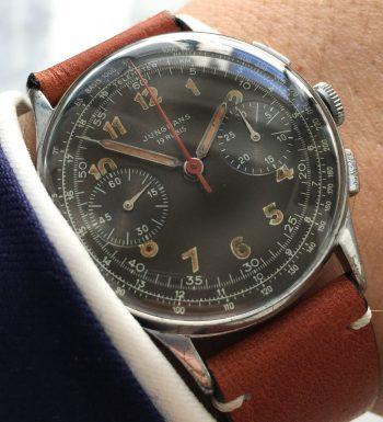 [:en]Serviced Junghans Chronograph caliber 88 Original Dial[:de]Servicierte Junghans Chronograph Kaliber 88 mit Originalziffernblatt[:]