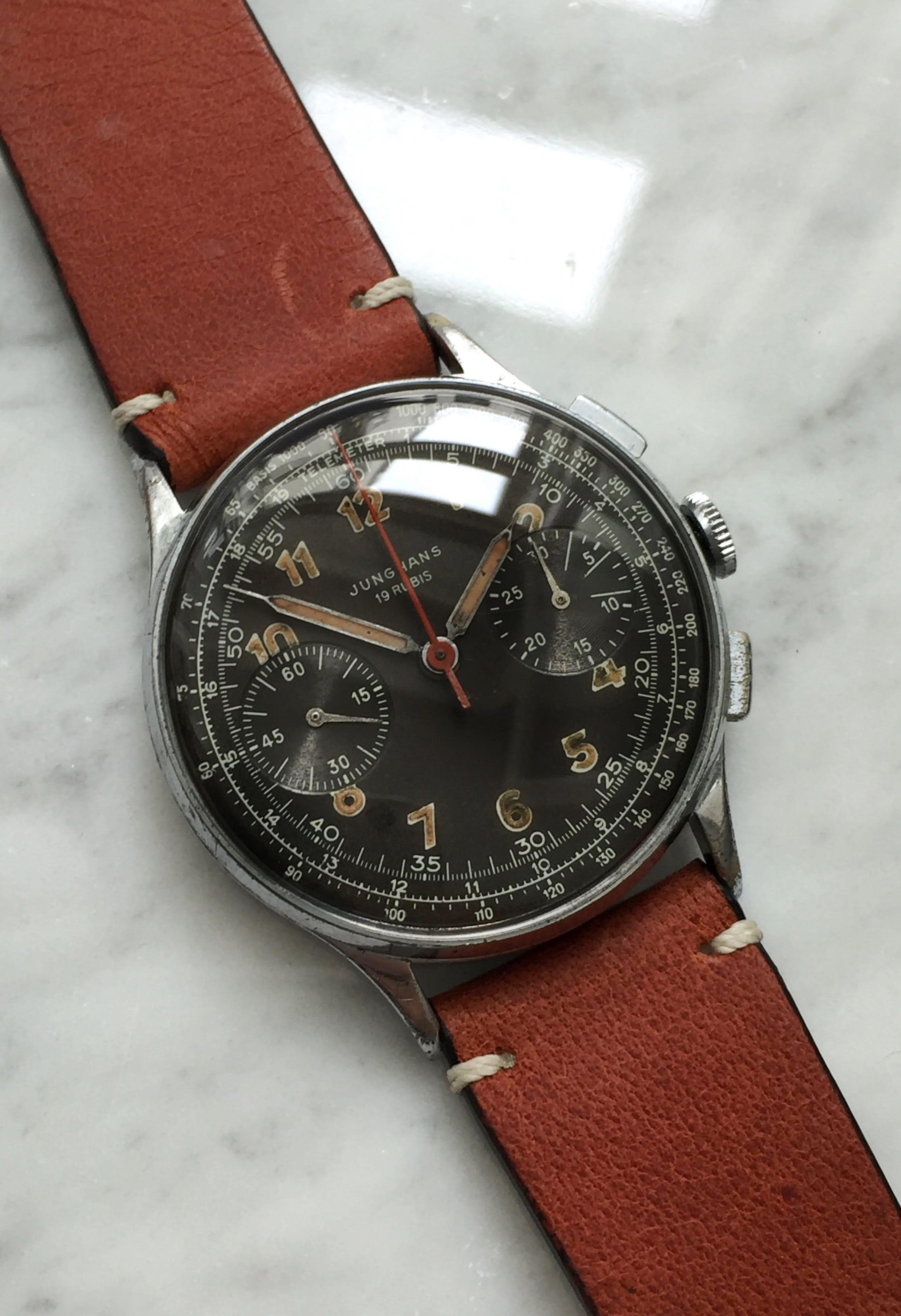 Serviced Junghans Chronograph caliber 88 Original Dial