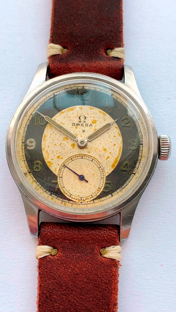 Great Vintage Omega Suverän Antimagnetic Bullseye Dial Two Tone