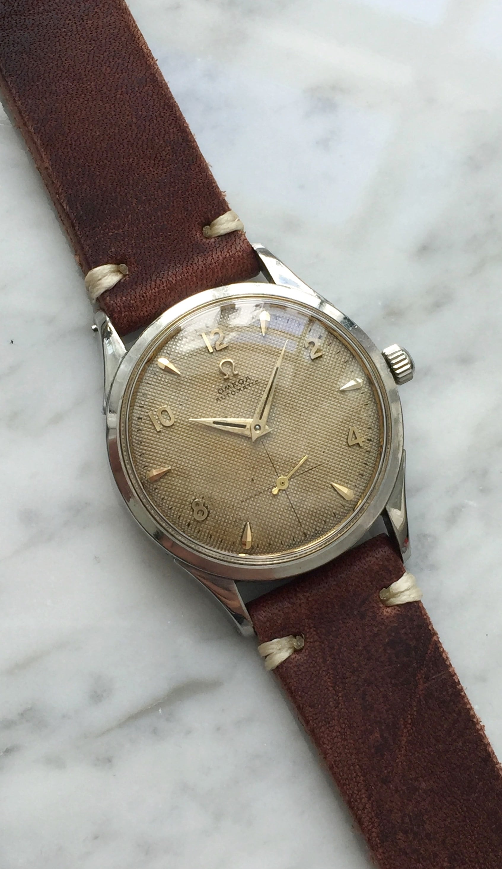 Vintage Omega Hammer Automatic Honeycomb Dial