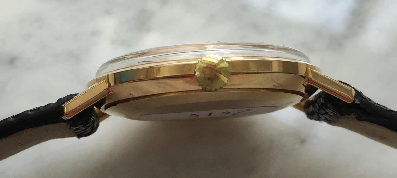 Refurbished 18k Rose Gold Longines Linen Dial