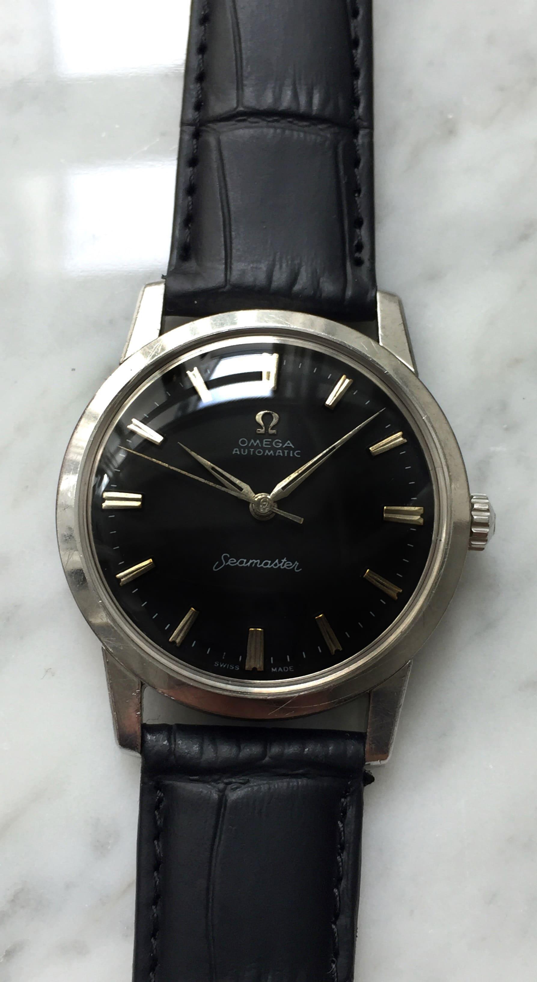 Vintage Omega Seamaster Automatic Refurbished Black Dial