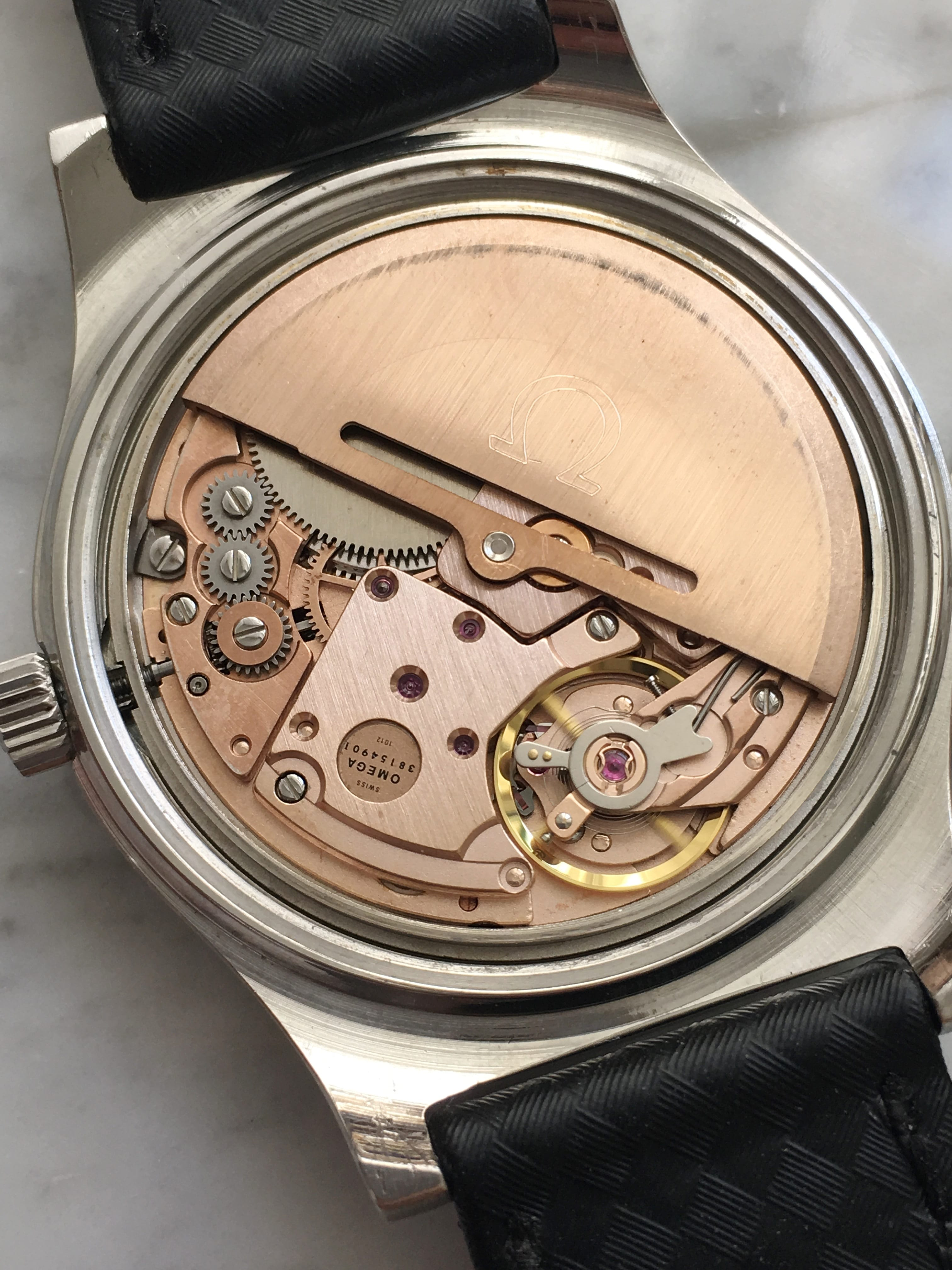 Omega Geneve Automatic Silver Linen Dial