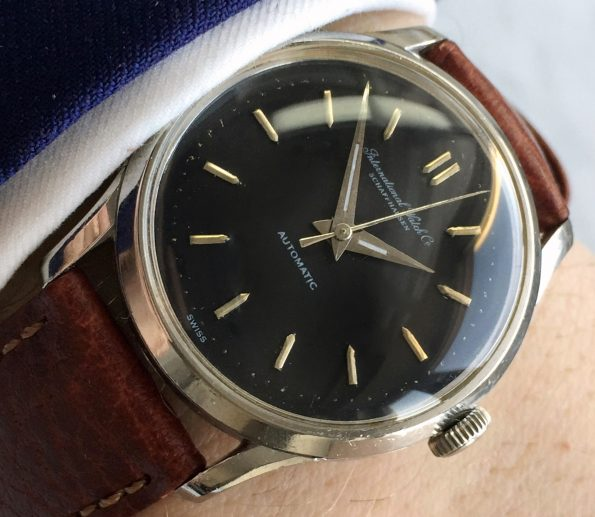 Fully Restored IWC Vintage Black Dial Automatic