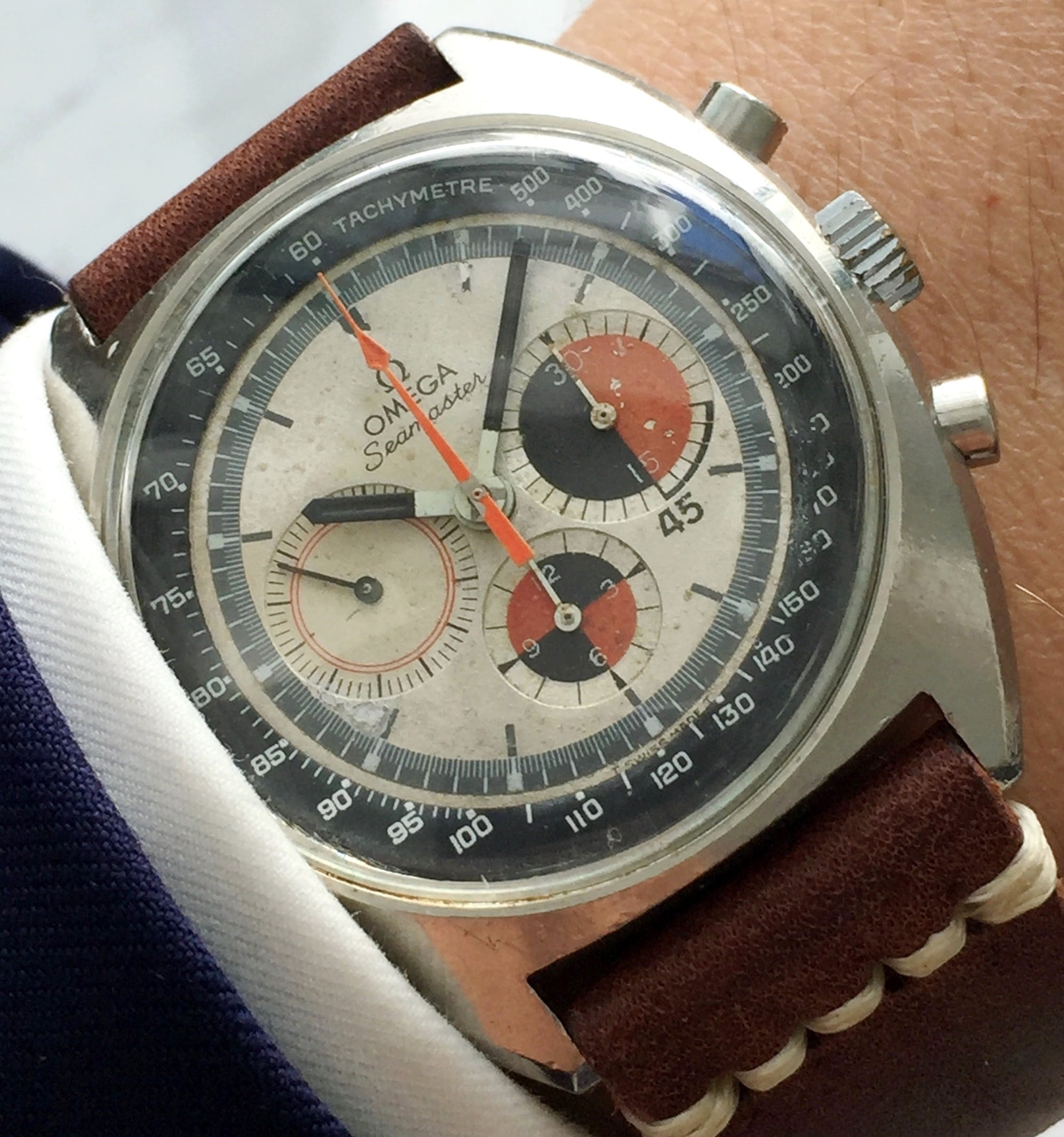 Serviced Omega Seamaster Soccer Vintage Watch