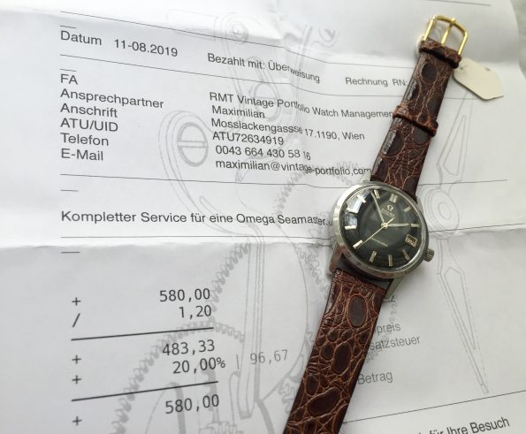 Tolle Omega Seamaster UNRESTORED Black dial Automatic
