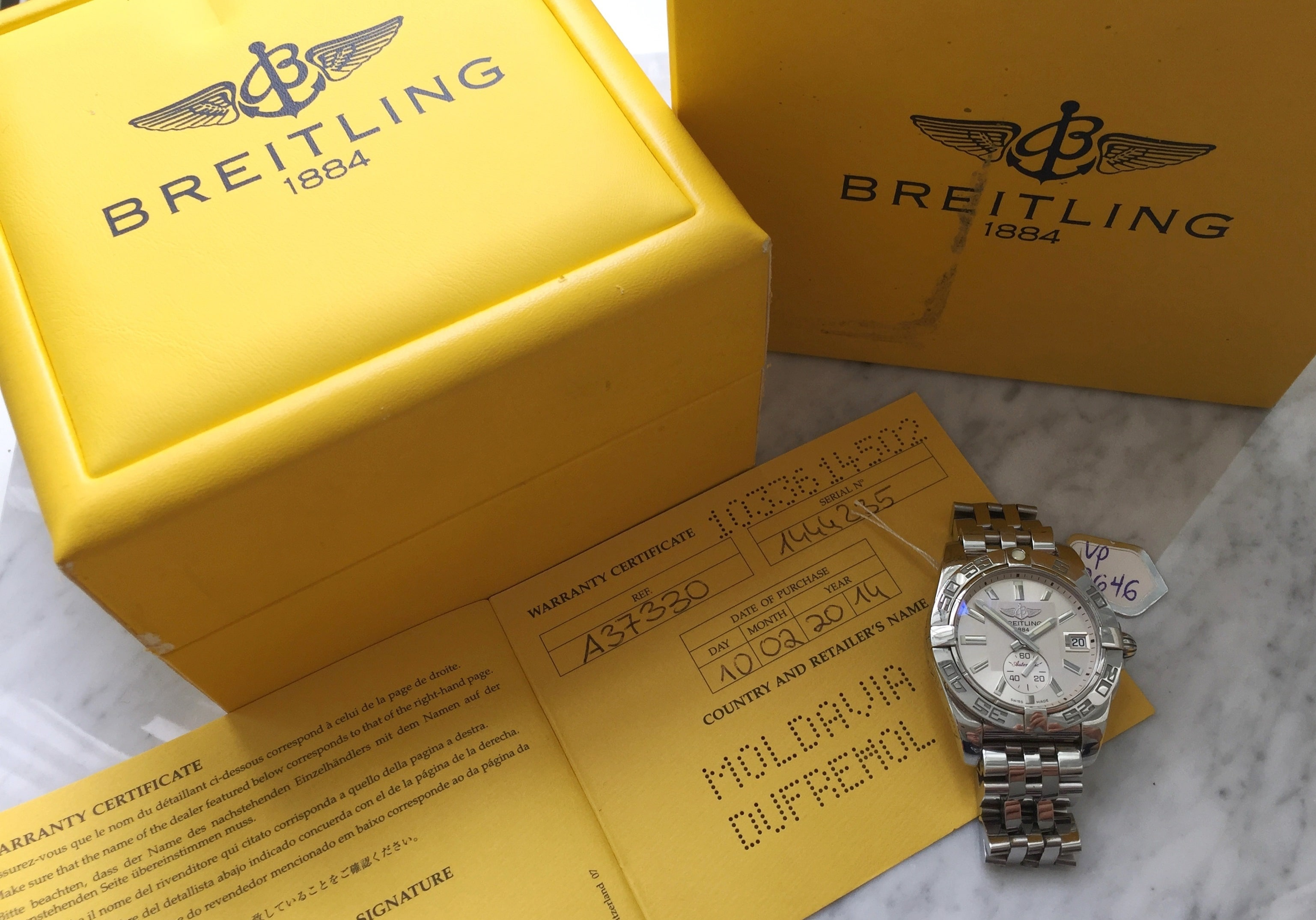 Breitling Galactic 36 Full Set