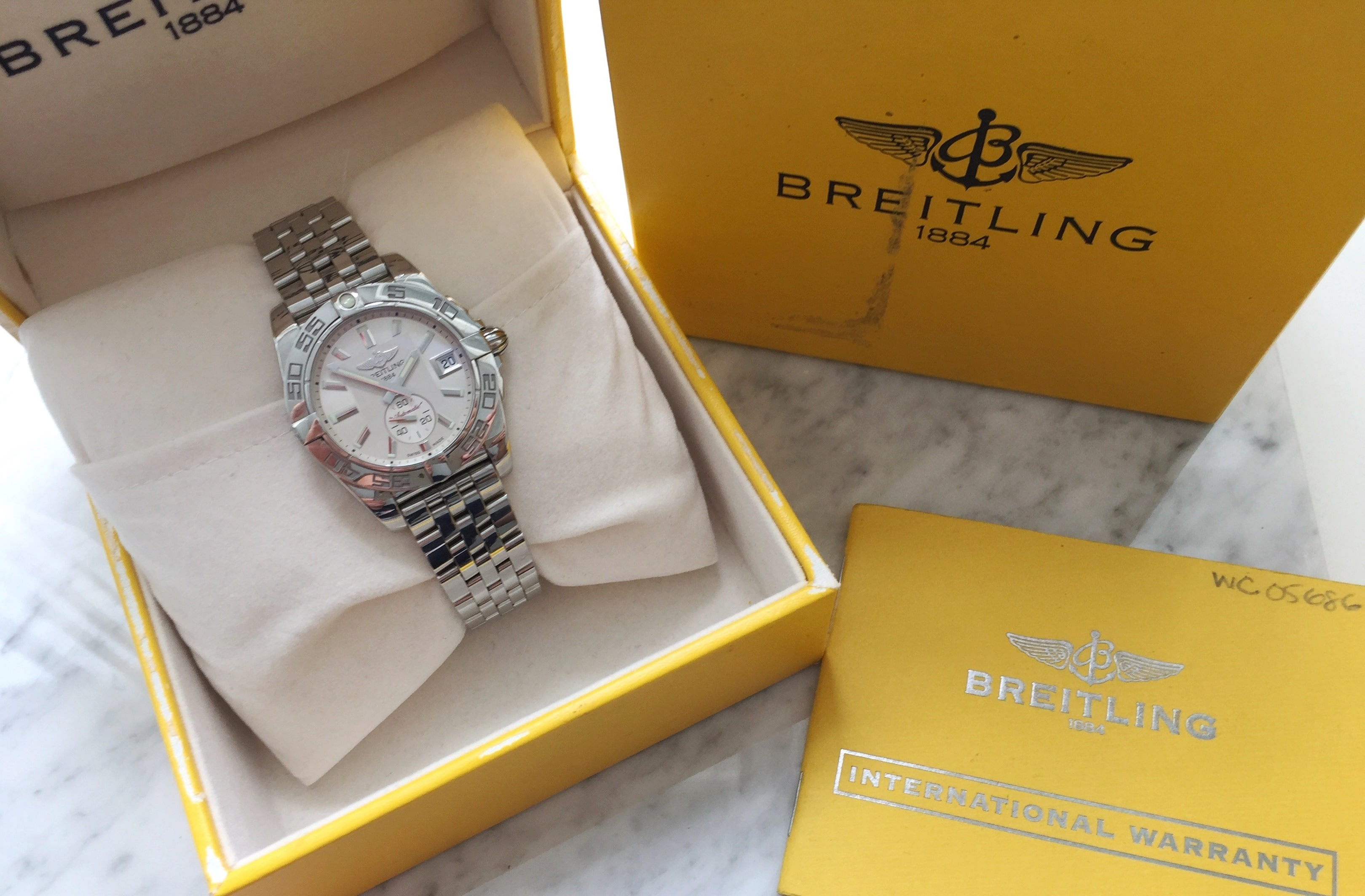 Great Breitling Galactic 36 Full Set Automatic