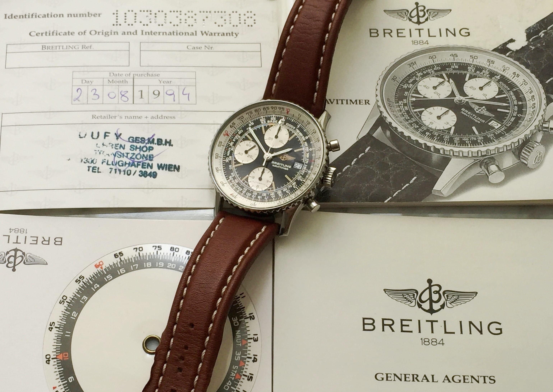 Vintage 1994 Breitling Navitimer Full Set