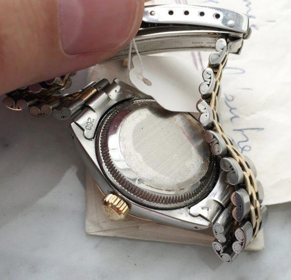 Schöne Damen Twotone Rolex Oyster Perpetual Date