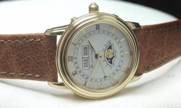 Amazing Blancpain Lady Triple Date Moonphase Solid Gold