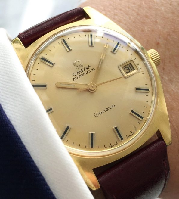 Great Gold Plated Omega Genève Automatic