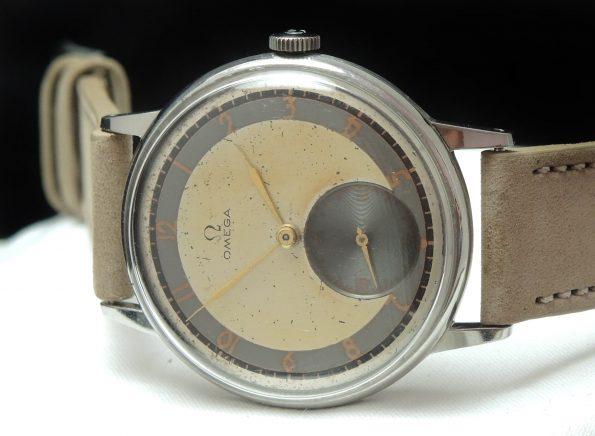 Art Deco Omega Oversize Jumbo 38mm Bullseye Dial