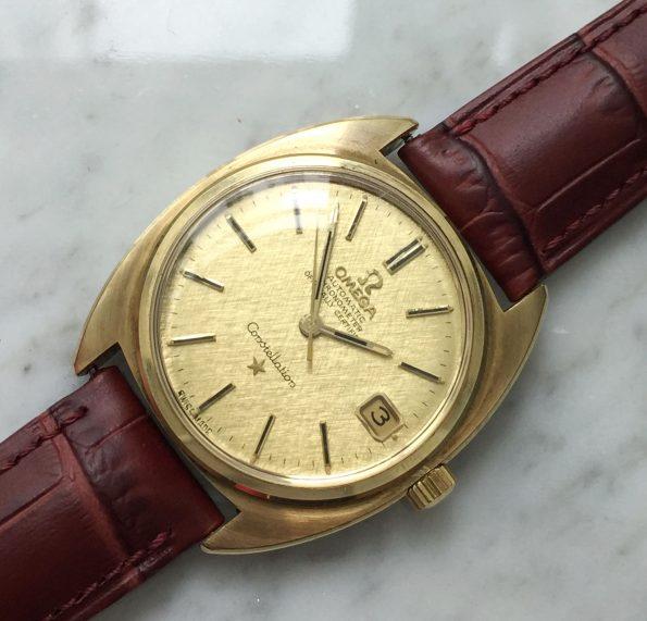 Vintage Omega Constellation Full Set Linen Dial