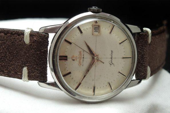 Vintage Omega Genève Automatik unrestauriertes Fadenkreuz Ziffernblatt