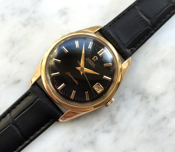 Vintage Omega Seamaster Automatic Refurbished GILT Black Dial