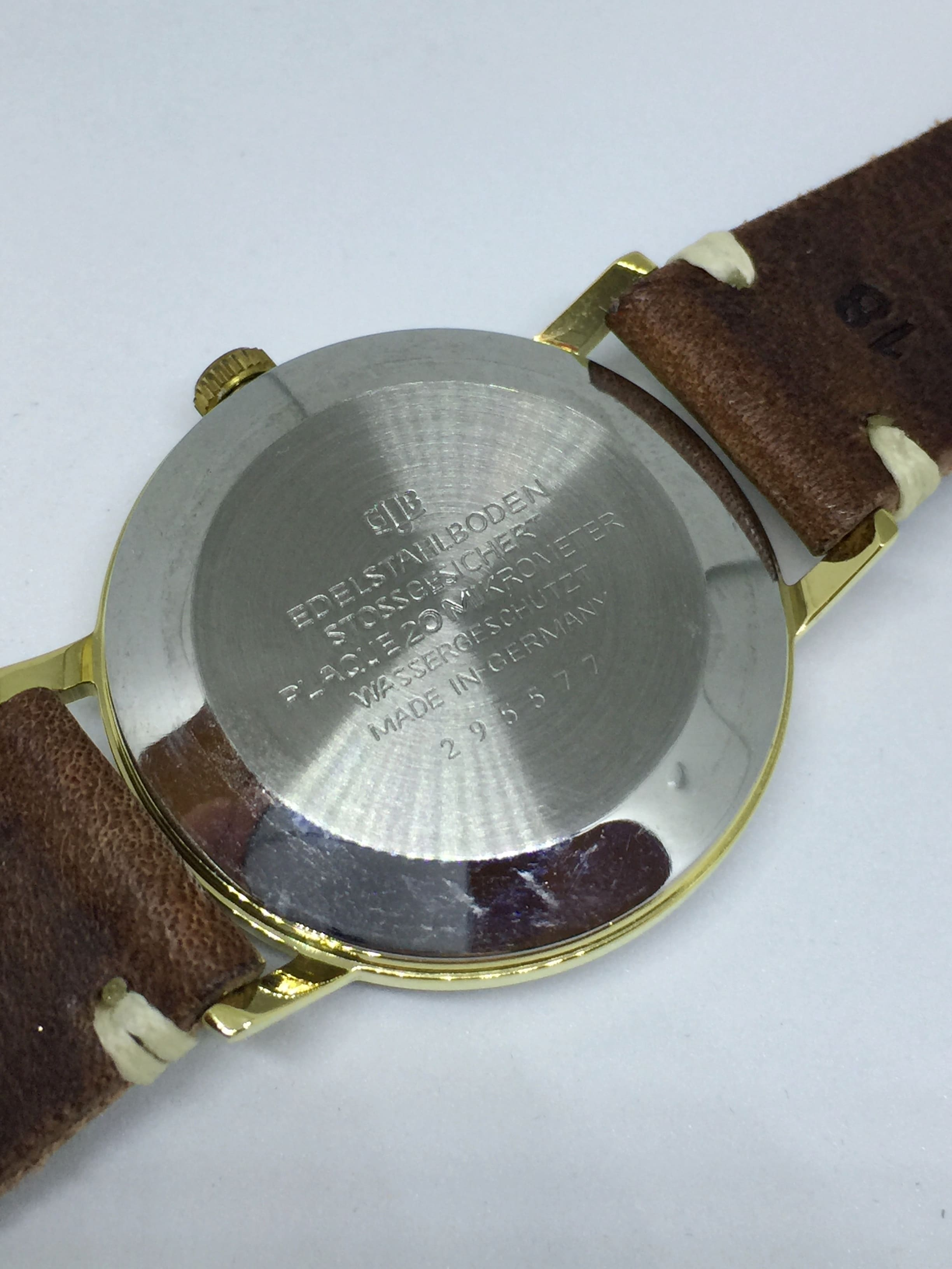 Vintage Glashütte Spezimatik Automatic black dial
