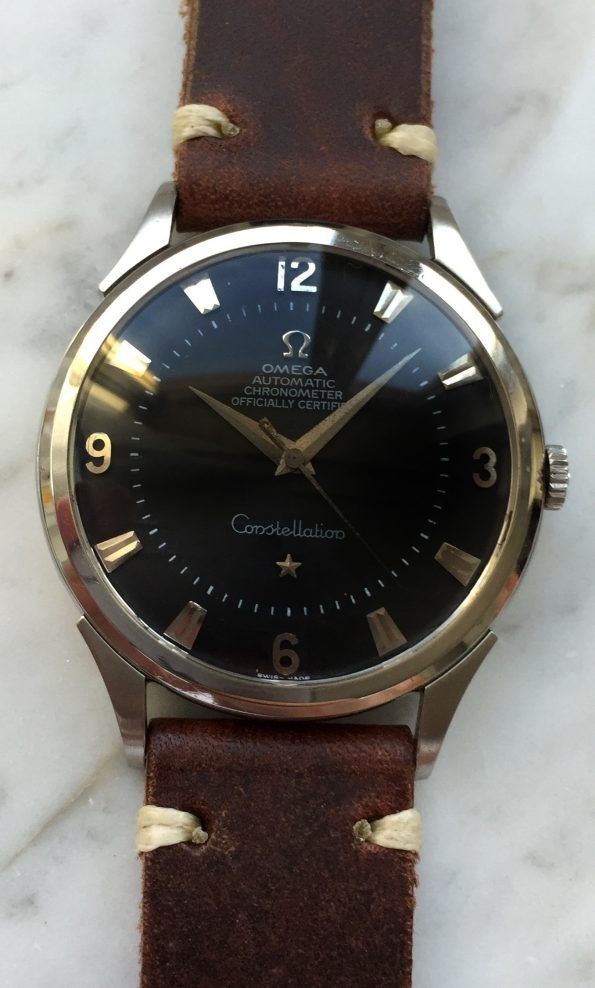 Rare 35mm Omega Constellation Pie Pan Vintage black dial