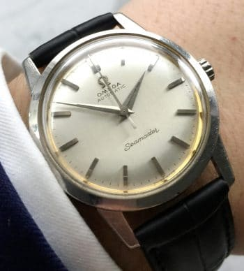 LINEN DIALED Omega Seamaster Automatic Vintage Steel