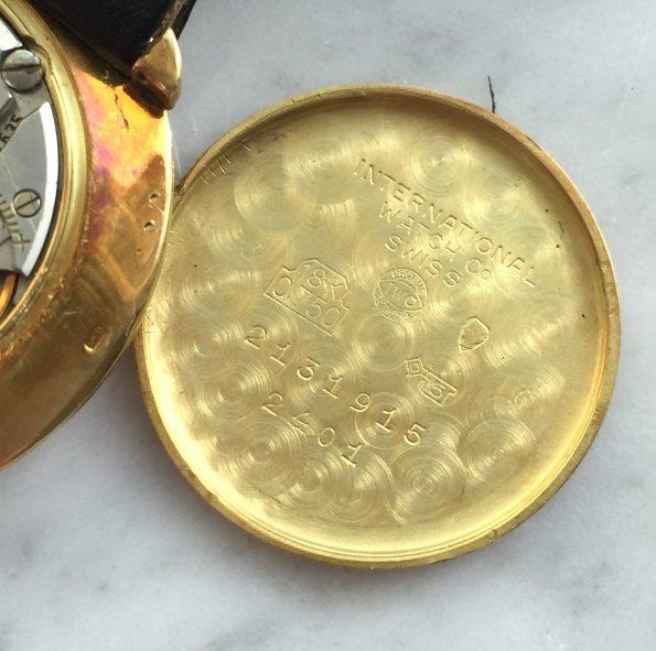 Elegant Solid Gold IWC Handwinding Roman numerals