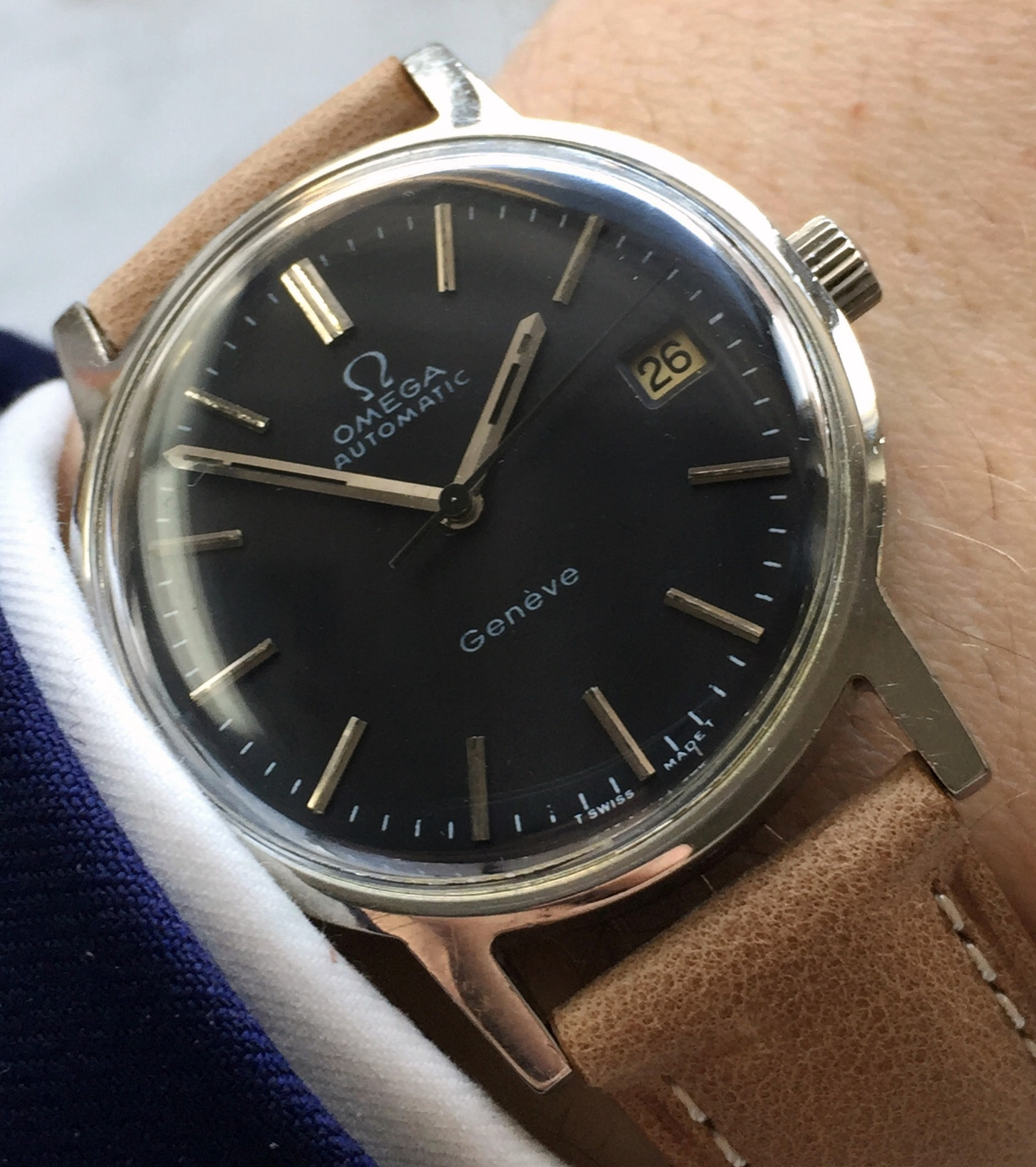 Omega Geneve Fully Restored Automatic black dial