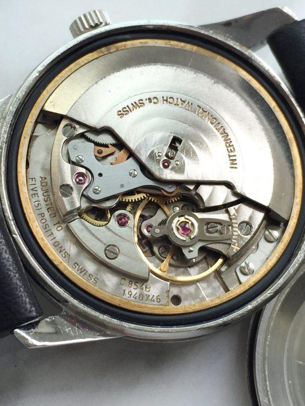 Beautiful IWC Vintage Steel Wristwatch with Original Linen Dial