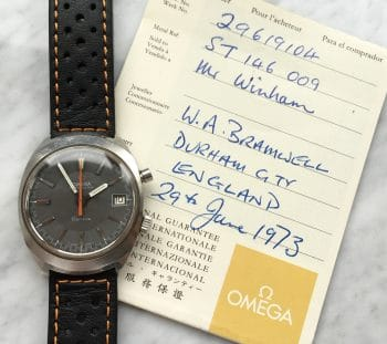 [:en]Vintage Omega Chronostop Matte Grey Dial FULL SET BOX PAPERS[:de]Vintage Omega Chronostop FULL SET BOX PAPIERE[:]