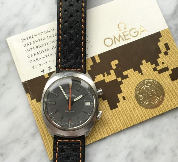 Vintage Omega Chronostop Matte Grey Dial FULL SET BOX PAPERS