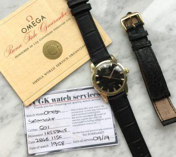 FULL SET Omega Seamaster Automatik Vintage vergoldet BOX PAPIERE