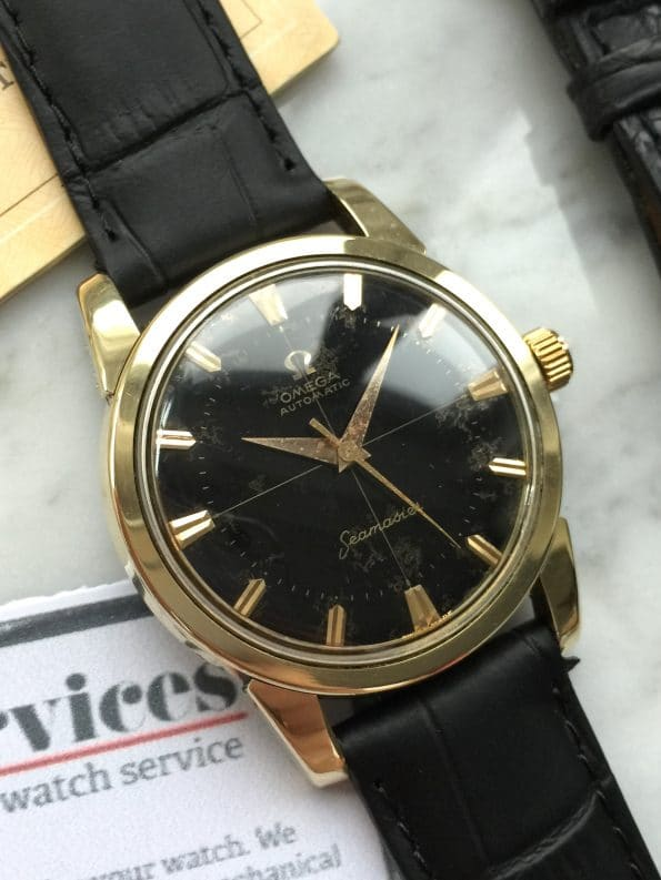 FULL SET Omega Seamaster Automatic Vintage gold plated BOX PAPERS