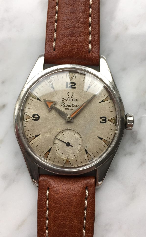 Vintage Omega Ranchero Unrestored Cream Dial Broad Arrow Hand