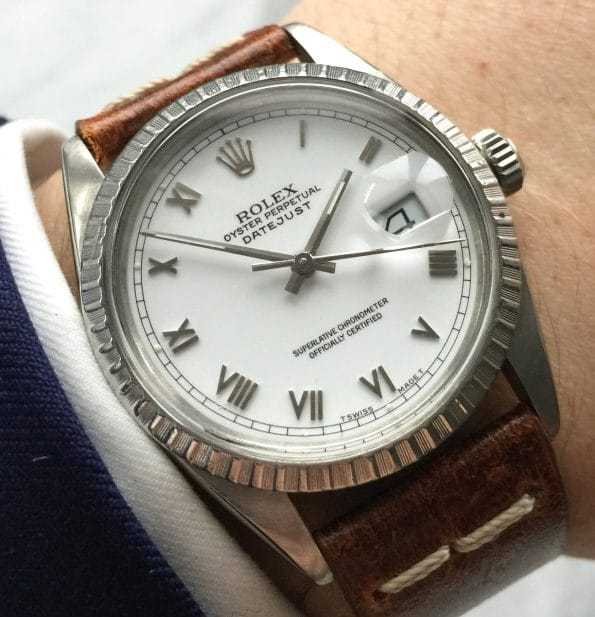 Eye Catching Rolex Datejust with Elegant Roman Numeral Dial