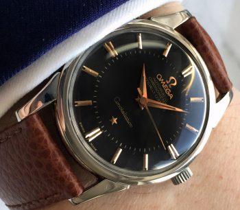 [:en]Omega Constellation Pie Pan Vintage black dial[:de]Omega Constellation Pie Pan Vintage schwarzes Ziffernblatt[:]
