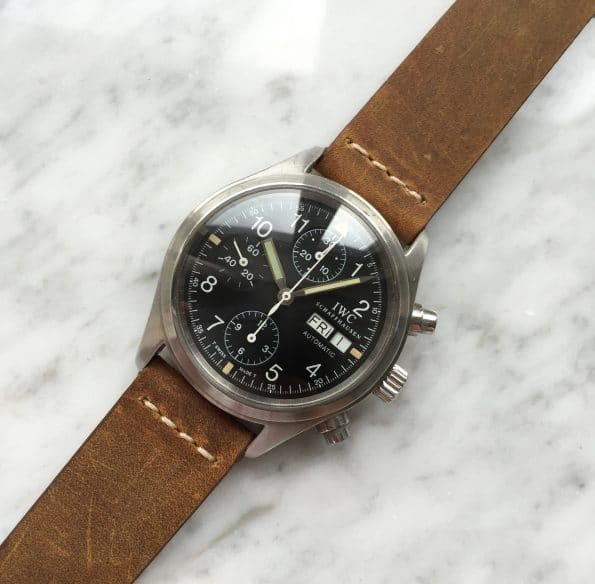Amazing Original Tritium Dial IWC Flieger Chronograph With Papers