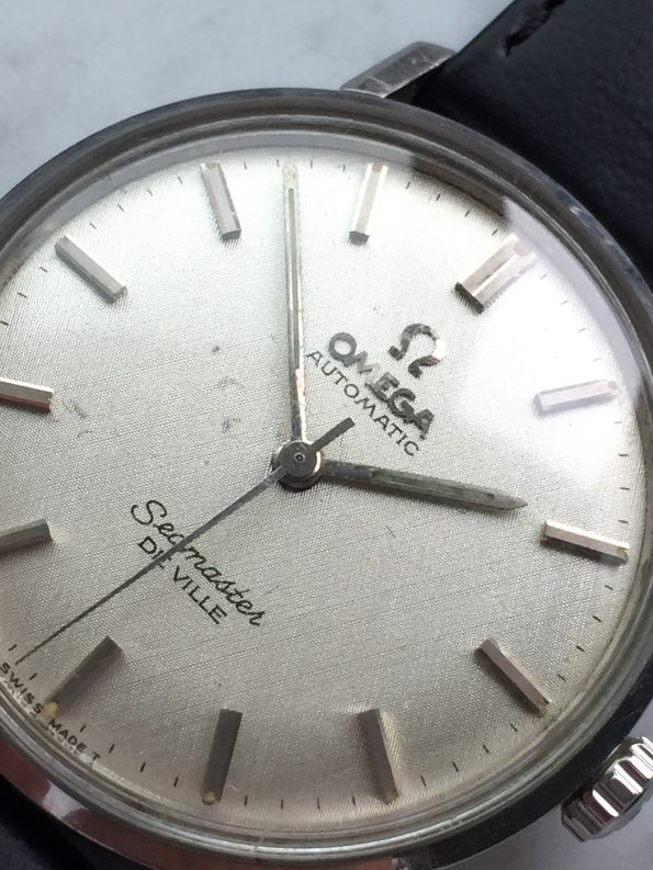 Great Omega Seamaster De Ville Automatic Vintage Steel with Linen Dial