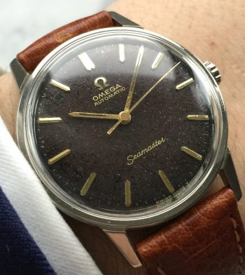 [:en]Rare Omega Seamaster Automatic Vintage with CHOCOLATE DIAL[:de]Seltene Omega Seamaster Automatic Vintage mit CHOCOLATE DIAL[:]