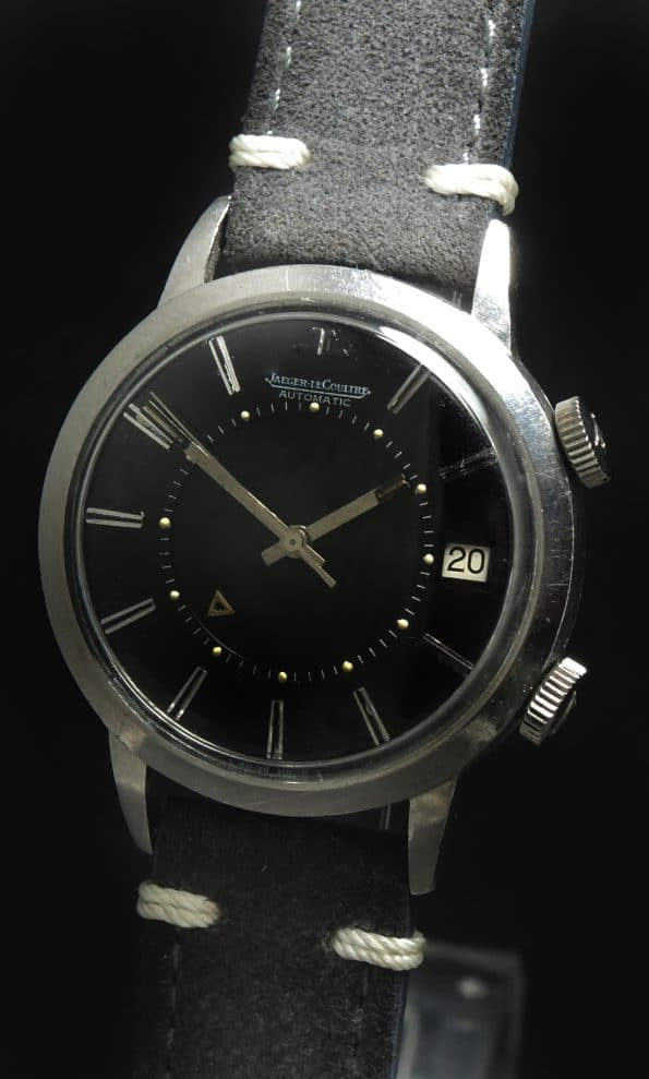 Stunning Jaeger LeCoultre Memovox Automatic Date black dial