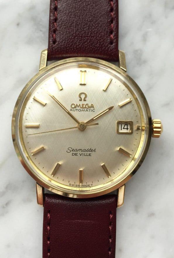 Leinen Ziffernblatt Omega Seamaster De Ville Automatik Vintage vergoldet