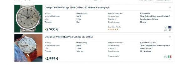 Rare Omega Chronograph Vintage Steel Caliber 320