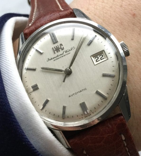 Perfect IWC Steel Linen Dial Automatic