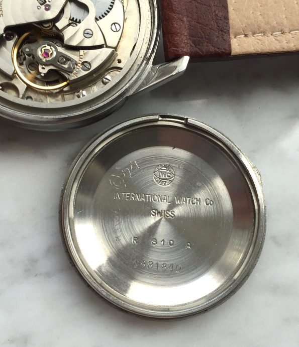 Perfect IWC Steel Linen Dial
