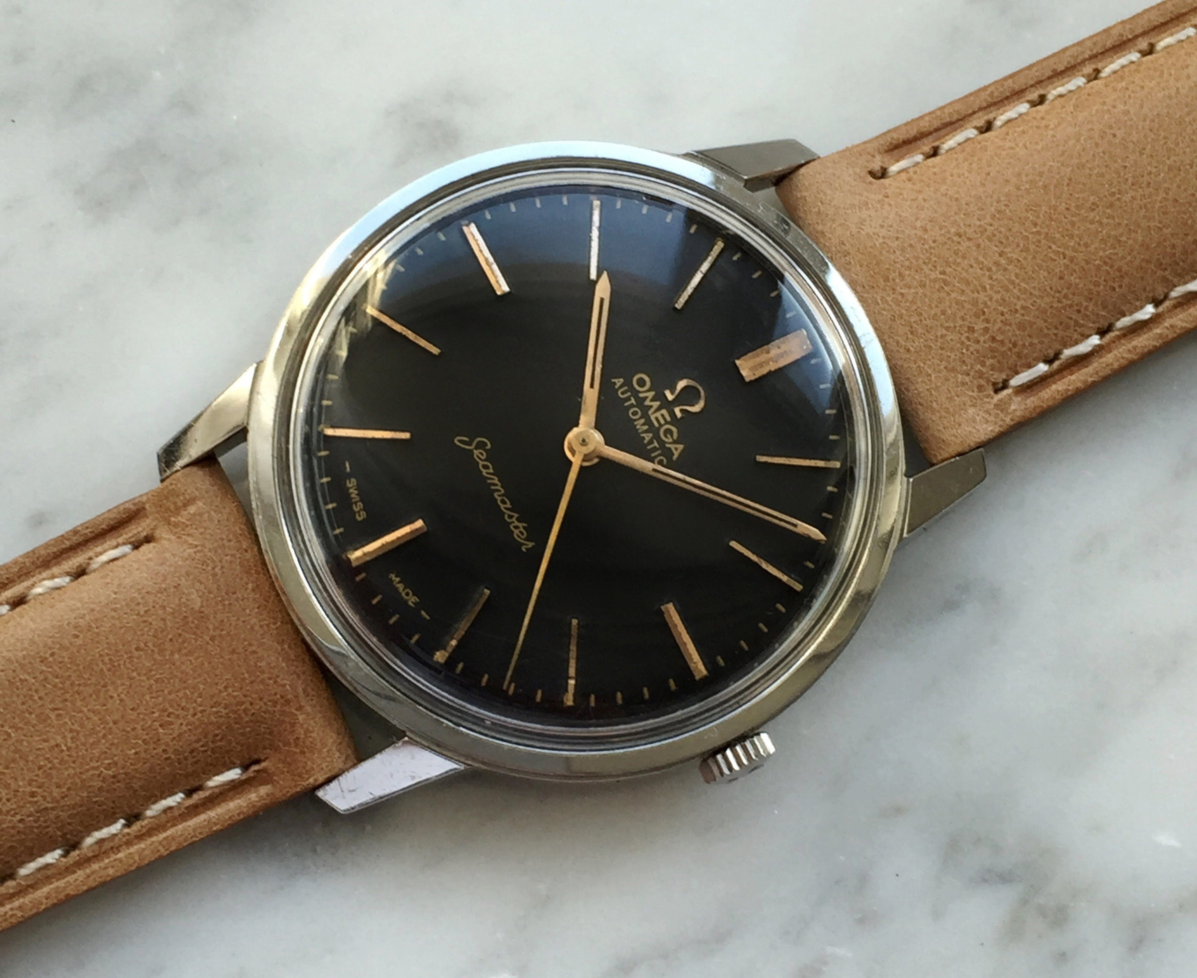 Restored Omega Seamaster Automatic Steel black dial