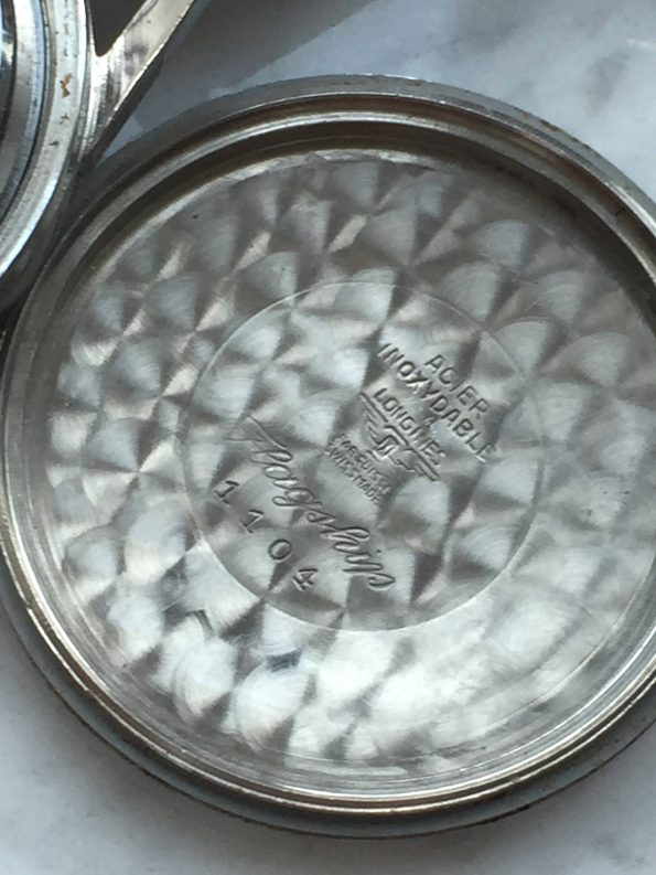 Rare Longines Flagship Vintage Steel with Etched Ship on Caseback