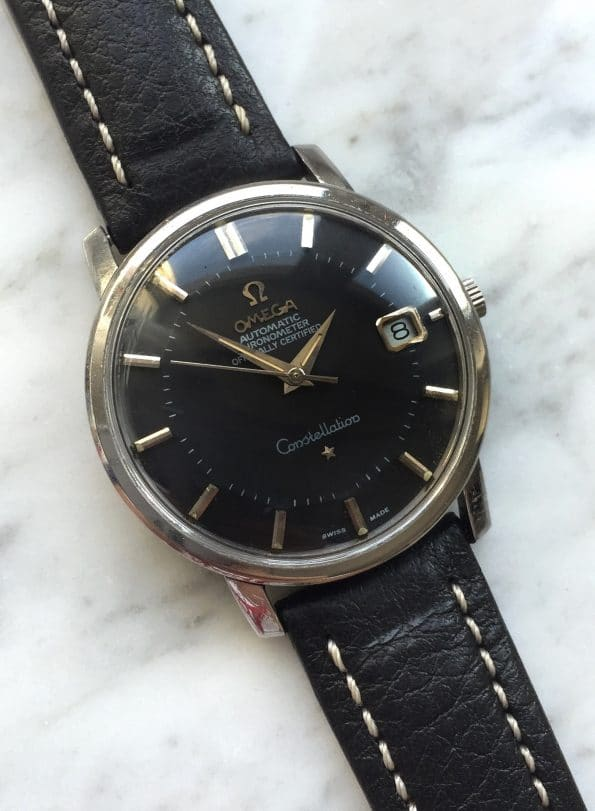 Superb Omega Constellation Pie Pan Automatic black dial