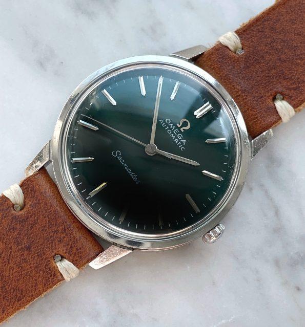 Customised Vintage Omega Seamaster Automatic custom green dial