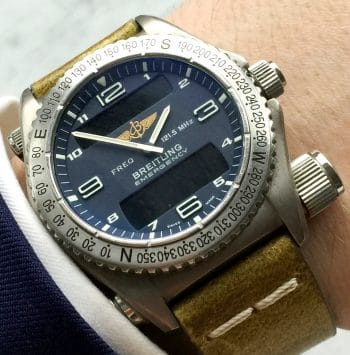 Beautiful Breitling Emergency Mission with Ecru Strap