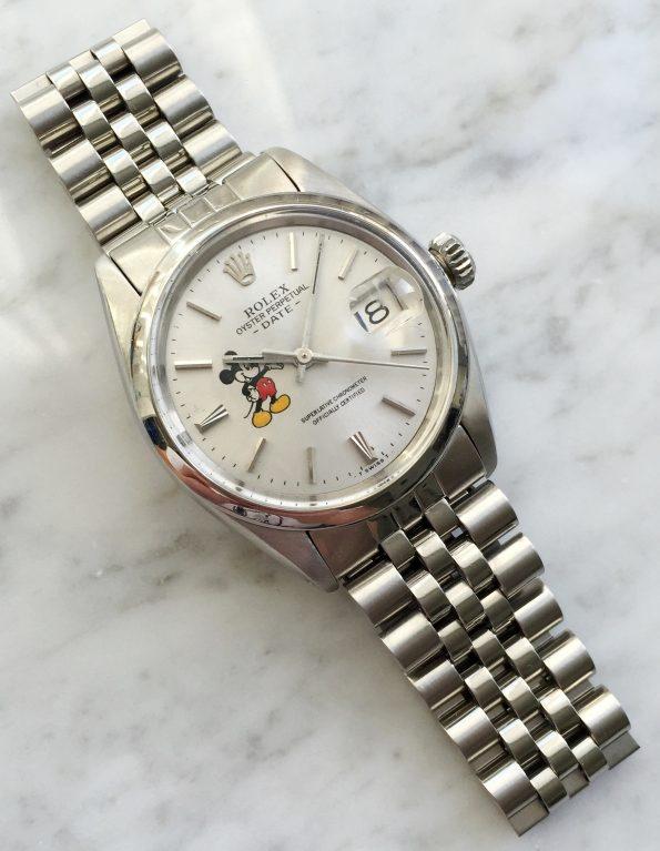 Tolle Rolex Date Automatik mit Mickey Mouse Ziffernblatt