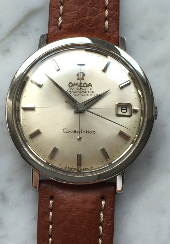 Perfect Omega Constellation Steel Automatic Vintage Crosshair Dial