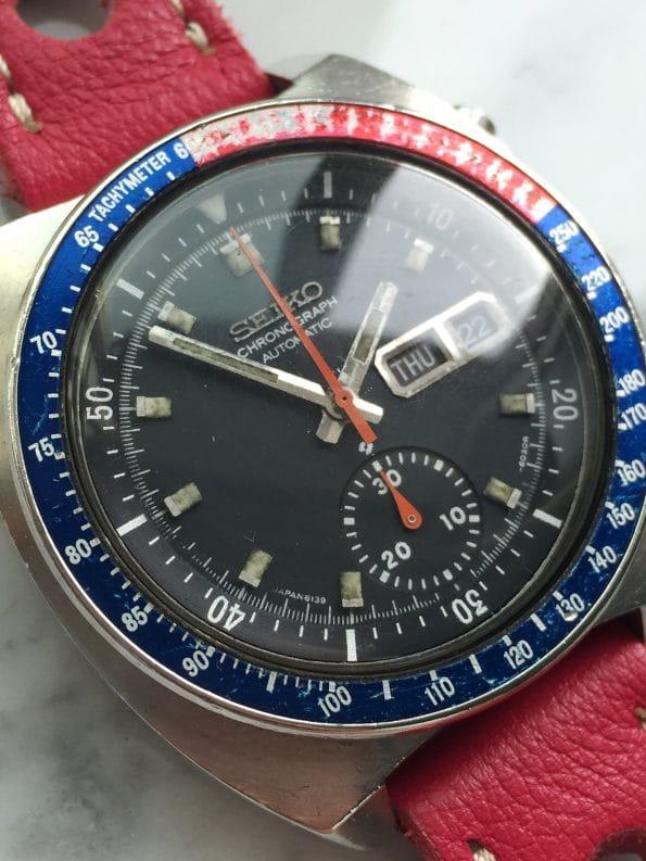 Vintage Seiko Pepsi Chronograph Automatic