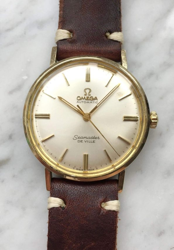 Vintage Omega Seamaster Automatik Deville Tritium Ziffernblatt Goldvergoldet